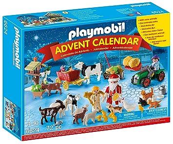 Calendrier De L Avent Playmobil Pas Cher.Playmobil 6624 Calendrier De L Avent Pere Noel A La Ferme