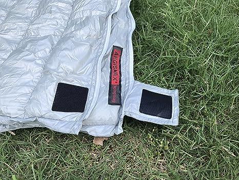 Bolsa de dormir ultraliviana AEGISMAX de pluma de ganso, con bolsa de compresión, ideal para ir de mochilero., negro: Amazon.es: Deportes y aire libre