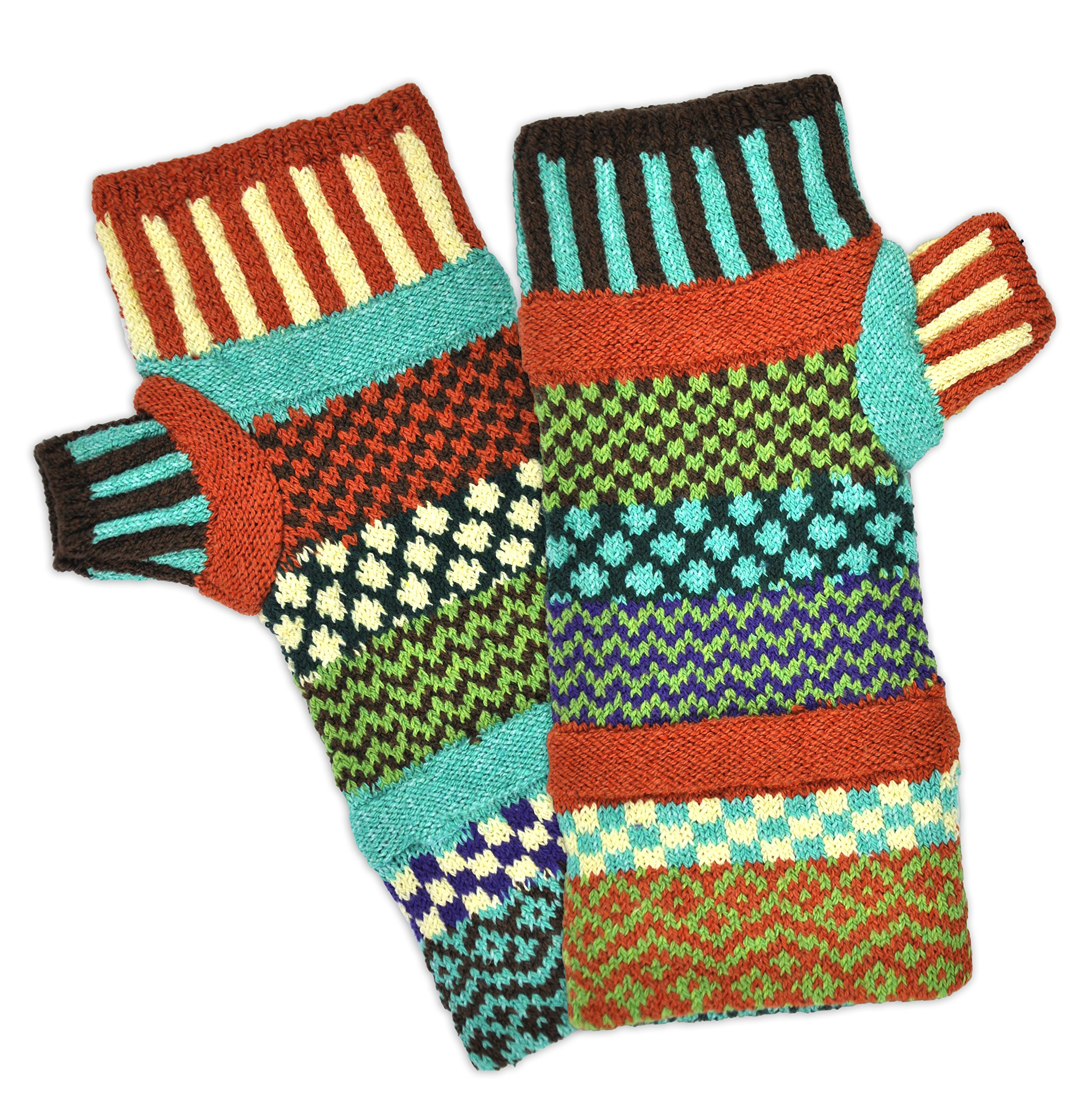 Solmate Socks, Mismatched Fingerless Gloves for Men or Women, September Sun