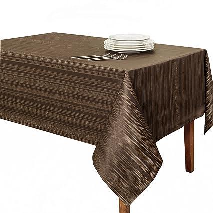 Benson Mills Flow U0026quot;Spillproofu0026quot; Fabric Tablecloth, 60X84 ...