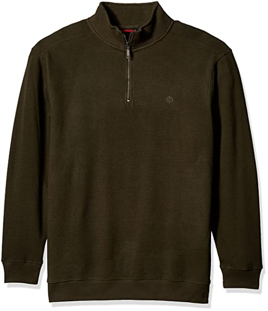 36b0ddcdb5 Wolverine Mens Big-Tall Denton Beefy Flat Back Waffle Knit Zip Sweatshirt  Shirt