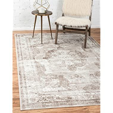 Unique Loom 3134075 Sofia Collection Traditional Vintage Beige Area Rug, 8' x 10' Rectangle,
