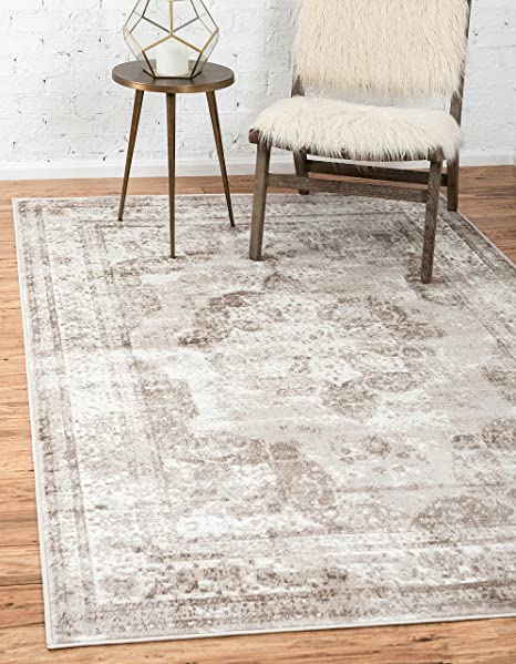 Unique Loom 3134074 Area Rug, 5' X 8' Rectangle, Beige by Unique Loom