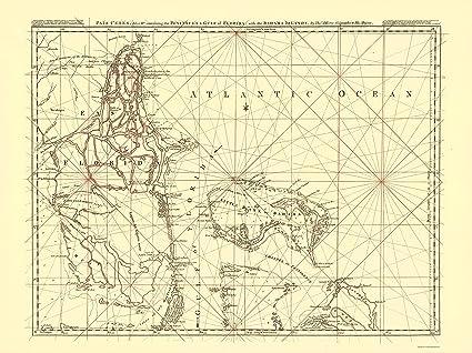 America Map Florida.Amazon Com Old North America Map Florida Peninsula Gulf Of