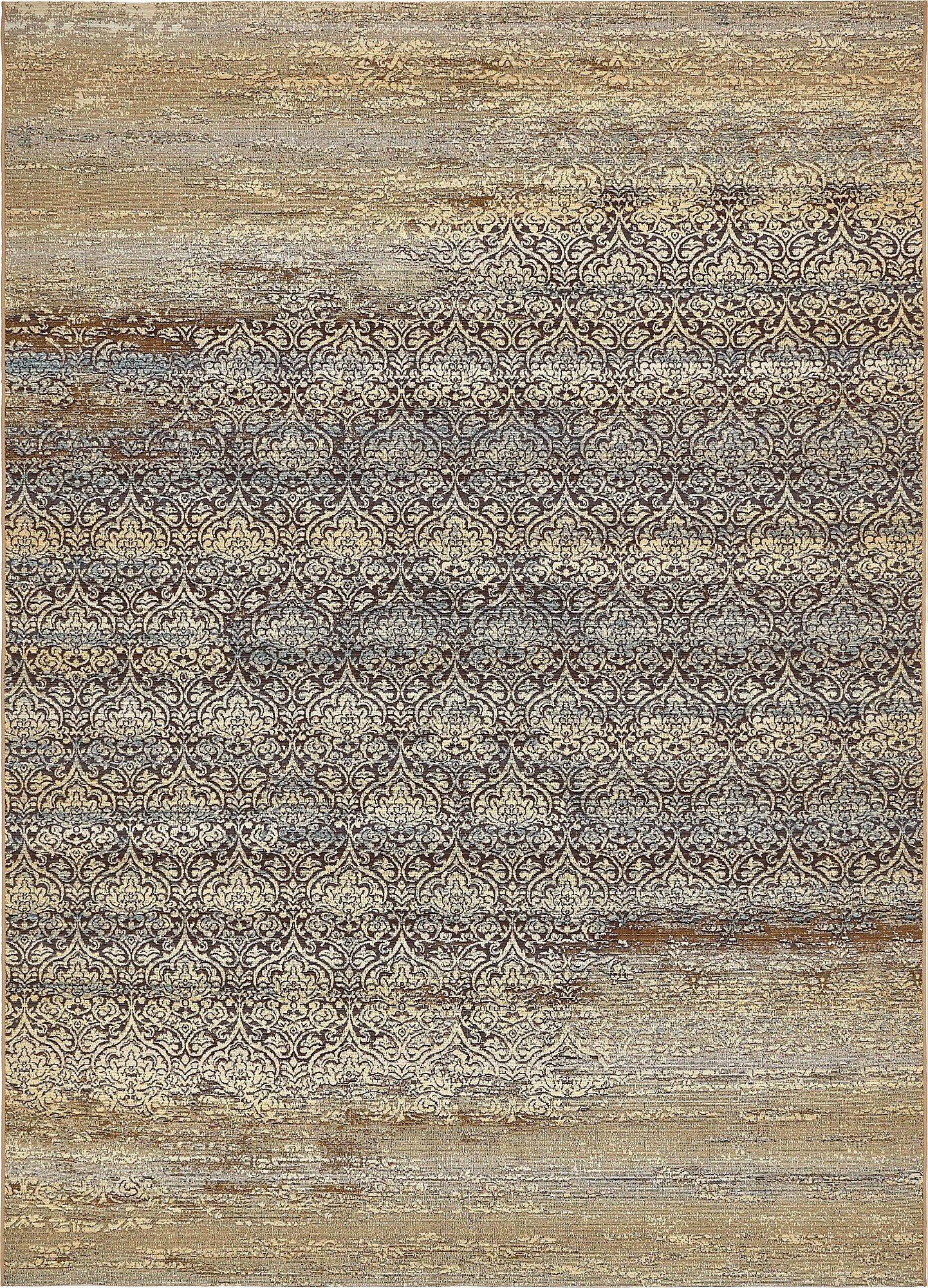 Unique Loom Eden Outdoor Collection Beige 8 x 11 Area Rug (8' x 11' 4'')