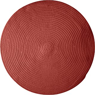 product image for Colonial Mills Bristol Polypropylene Braided Round Rug, 6-Feet, Rosewood