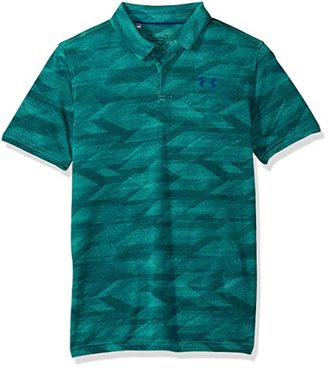 Under Armour Boys Thread borne Polo Tee, Teal Punch (595)/Moroccan ...