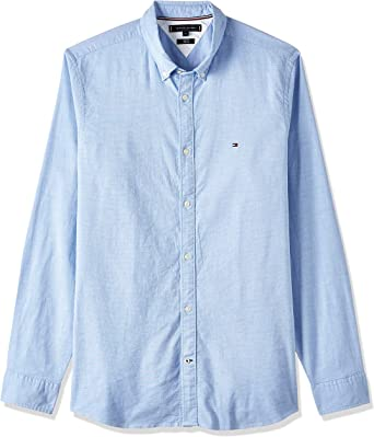 Tommy Hilfiger Core Stretch Slim Oxford Shirt Camisa para Hombre: Amazon.es: Ropa y accesorios