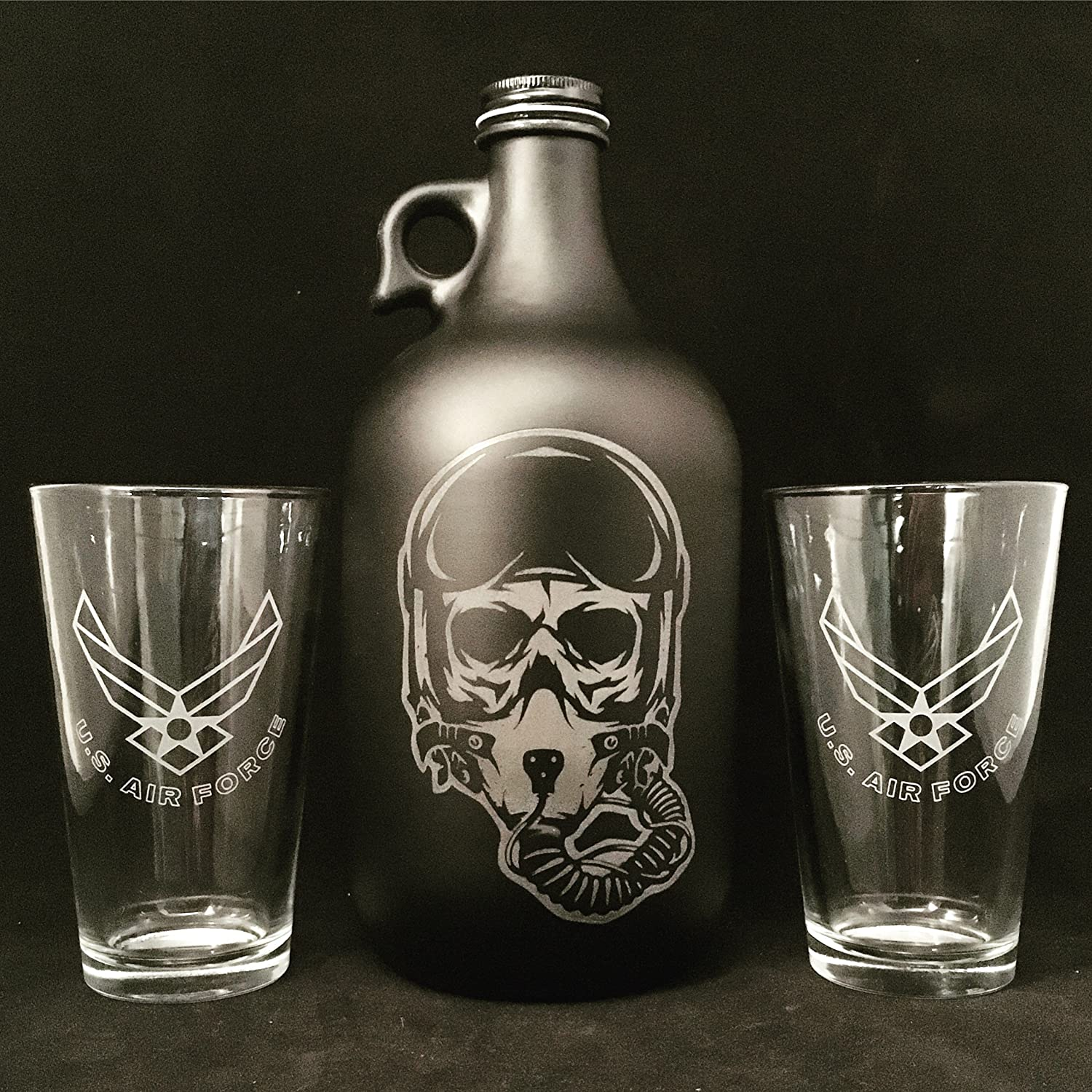 Air Force, Air Force Gifts, Beer Growler, Military, Veteran, Fighter Pilot, Pilot