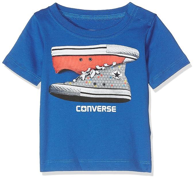 Converse Baby Jungen T Shirt Sneaker Stack Tee Soar Amazon De