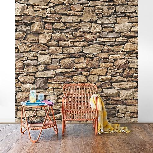 Fototapete | Steintapete Amerikanische Steinwand - Vliestapete