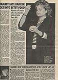 Tammy Faye Bakker original clipping magazine