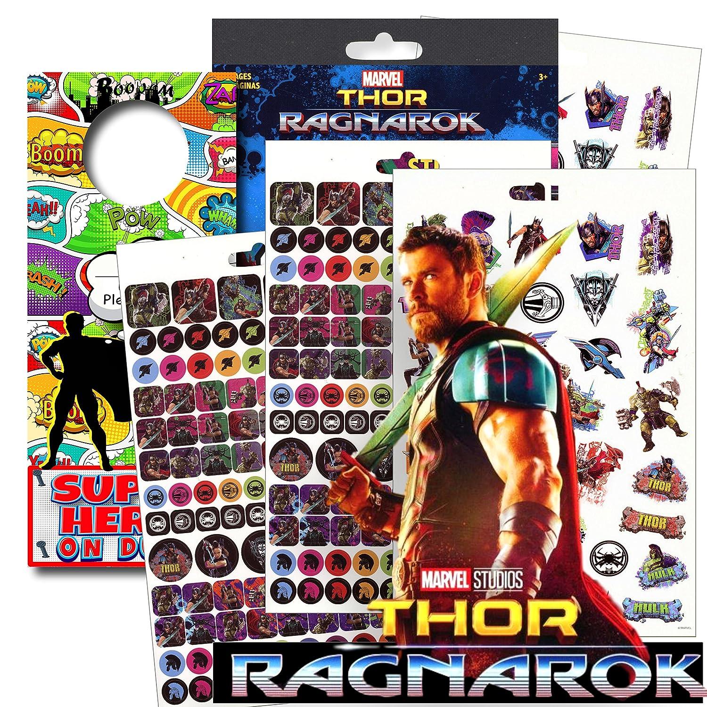 with Separately Licensed Superhero Door Hanger Thor Ragnarok Stickers Marvel Avengers Stickers over 295 Stickers