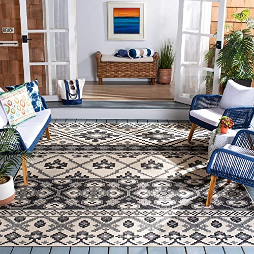 Safavieh Veranda Collection VER097 Boho Indoor/ Outdoor Non-Shedding Stain Resistant Patio Backyard Area Rug