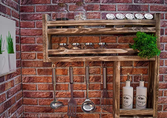 Gewurzregal Aus Holz Mit Viel Platz Hergestellt Aus Recyceltem