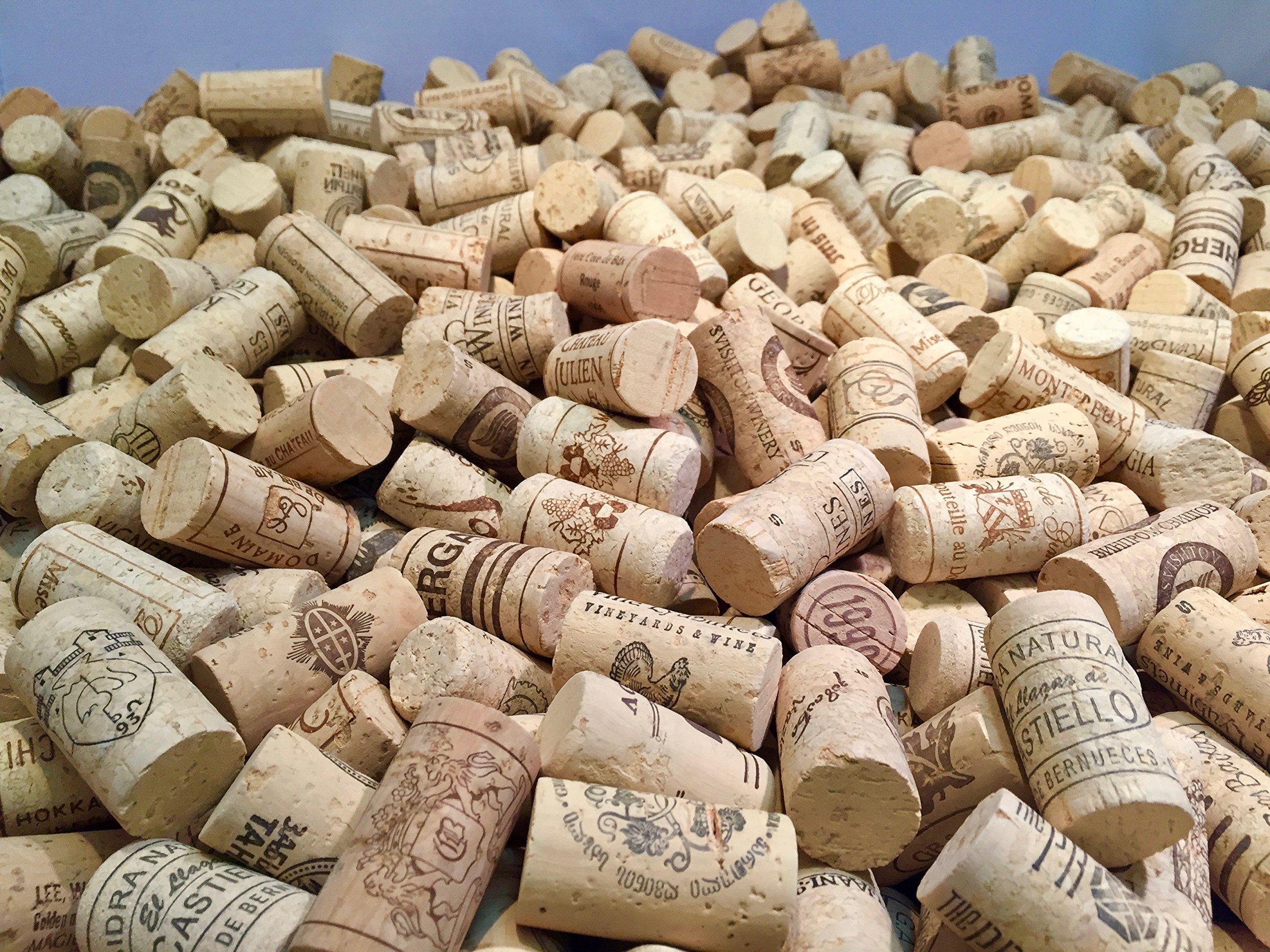 Wine Corks | Brand New, Authentic, All Natural | Printed, Winery-Marked, Craft Grade | Uncirculated, Uniform & Clean | Excellent for Crafting & Decor | Pack of 50/100/150/200 Premium Wine Corks (500) by Corkshire Hathaway (Image #5)