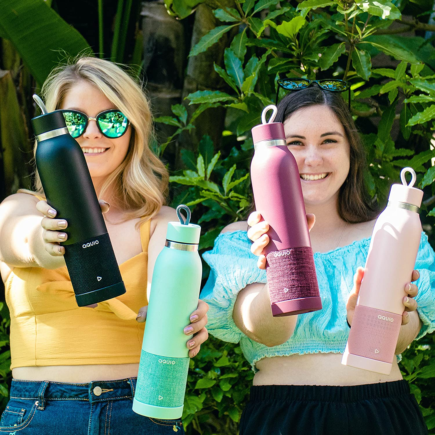 Insulated Water Bottle With Bluetooth Speaker