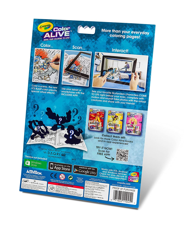 amazoncom crayola color alive action coloring pages skylanders toys games - Color Alive Coloring Book