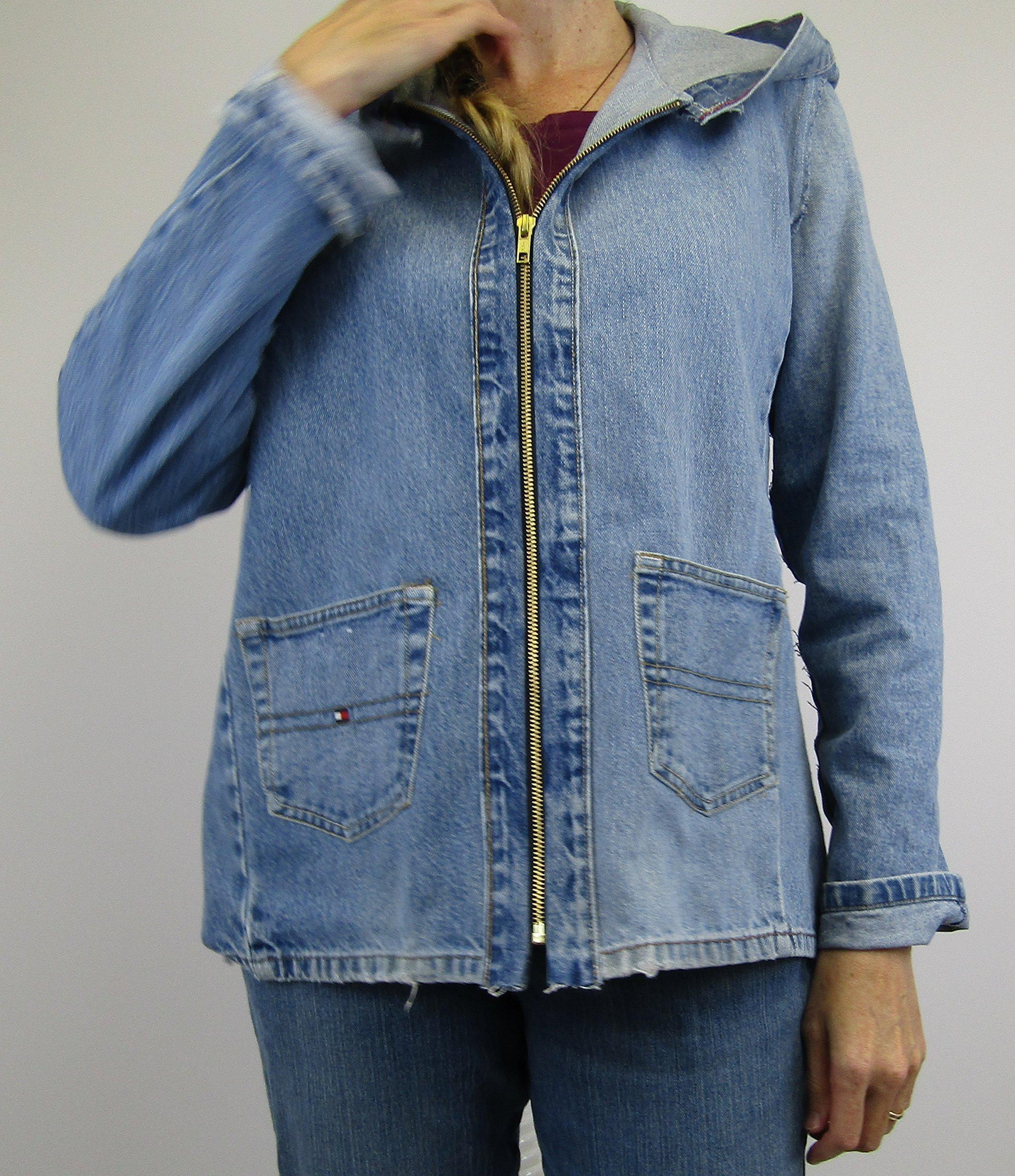 Hooded Denim Jacket Medium eco friendly fashion