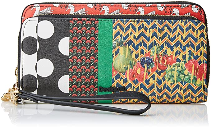 Desigual Mone_lola Patch Two, Carteras Mujer, Rojo (Fiesta), 4x10.5x19.5 cm (B x H x T): Amazon.es: Zapatos y complementos