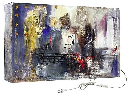 Decoralive note musicali quadro astratto con retroilluminazione