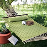 sage green diamond stitch quilted 2 person outdoor bed hammock with head amazon     castaway rods 450 lb realtree quilted hammock  bo w      rh   amazon