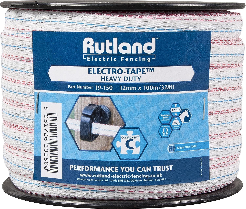 Rutland 19-150R Ruban pour clôtures électriques 12 mm x 100 m