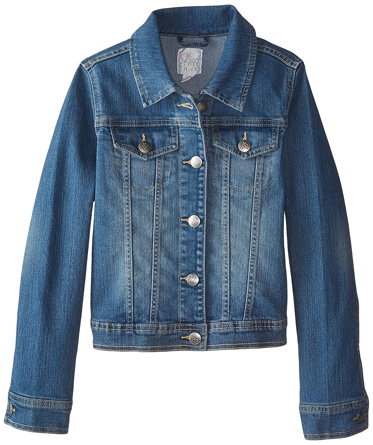 Amazon.com: The Children's Place Girls' Basic Denim Jacket: Clothing