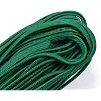 Coreless/Gutted 550 Paracord - Flat Hollow Cord - Whip Makers Computer Cable Sleeve - Kelly Green 100 Feet