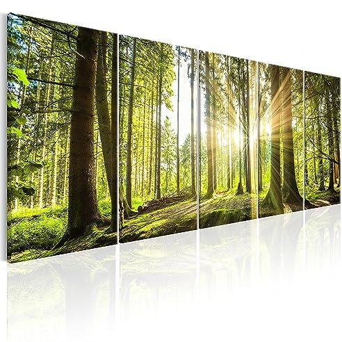 Wandbilder natur  murando - Bilder Wald 200x80 cm - Leinwandbilder - Fertig ...