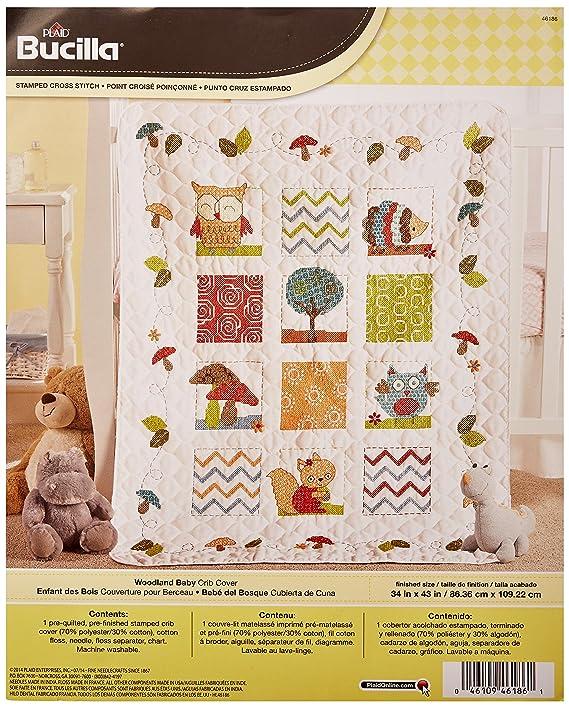 Amazon Bucilla Stamped Cross Stitch Crib Cover Kit 34 By 43