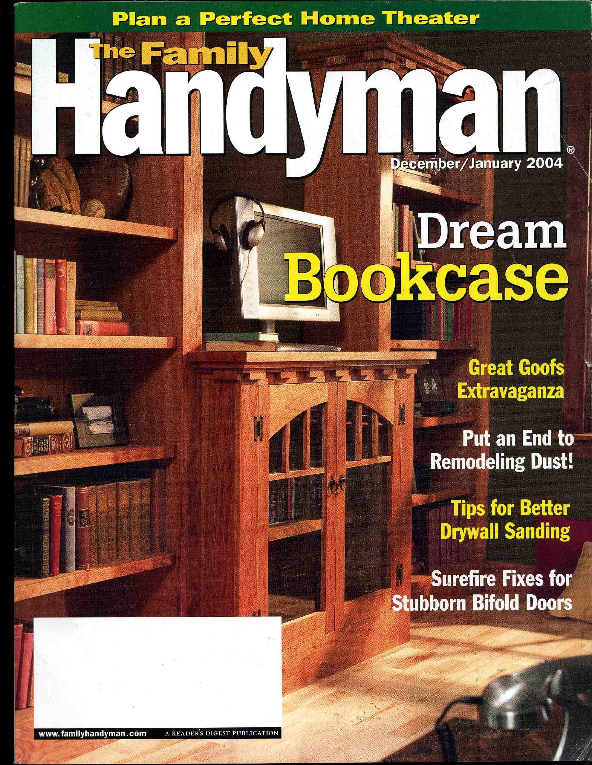The Family Handyman Magazine December January 2004 Dream