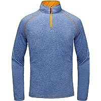 Little Donkey Andy Men's Long Sleeve Quick Dry Lightweight Running Golf Sports T-Shirt Top