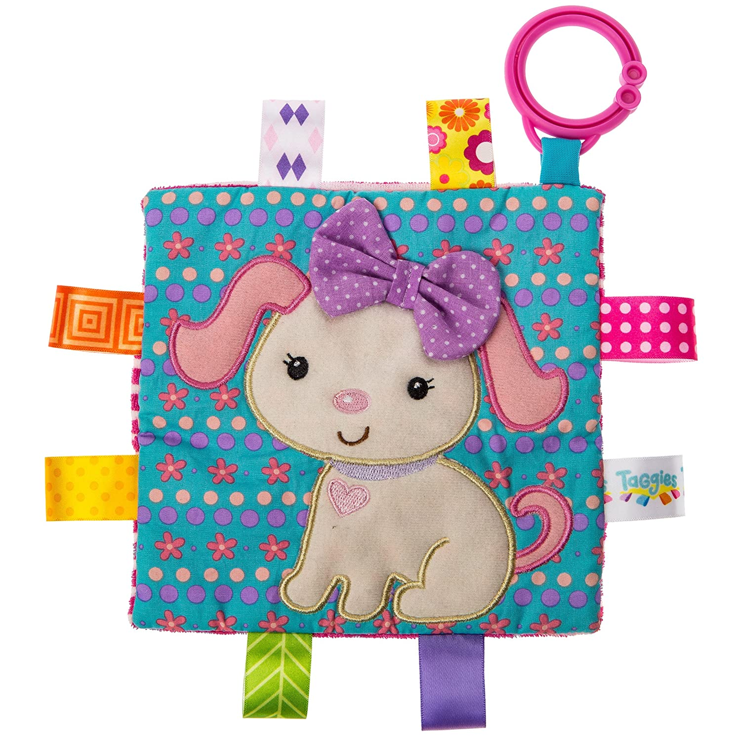 Mary Meyer Taggies Crinkle Me Baby Toy, Sister Puppy 40172