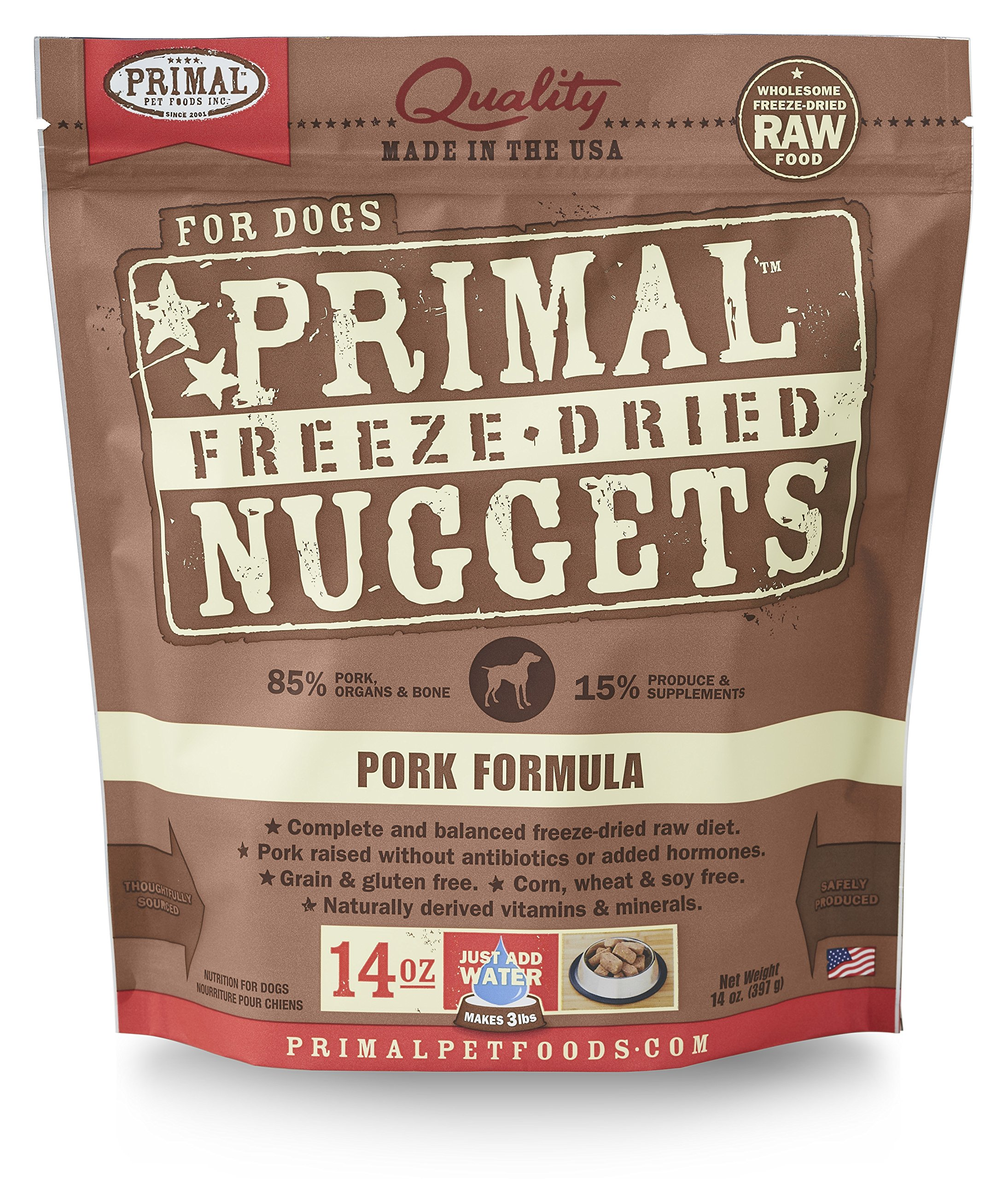 Primal Pet Foods Freeze-Dried Canine Pork Formula, 14 Oz by Primal Pet Foods