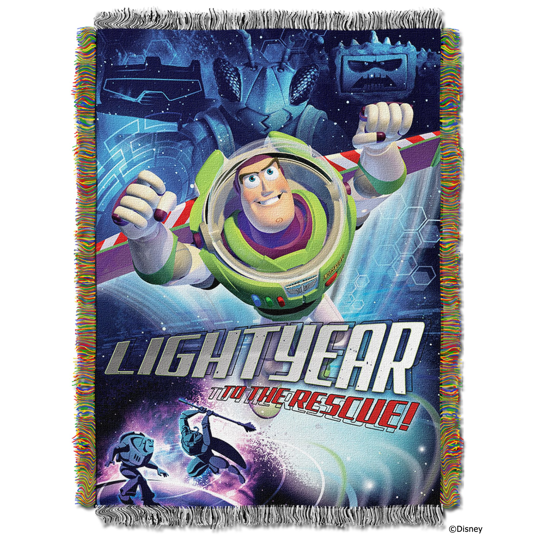Disney-Pixar's Toy Story, ''Buzz Victorious'' Woven Tapestry Throw Blanket, 48'' x 60'', Multi Color