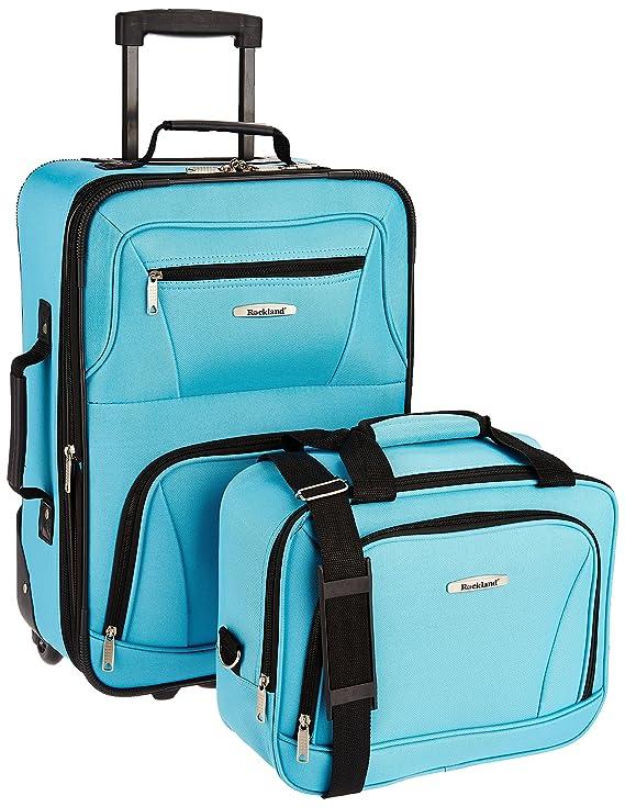 Rockland 2 Piece Luggage Set, Turquoise, One Size best luggage set