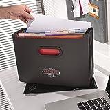 Conférencier A4 / Dossiers de portefeuille inclus avec la poche en papier - Dossier de document / Reliure d'anneau - Utilisation comme dépôt / Boite de fichiers