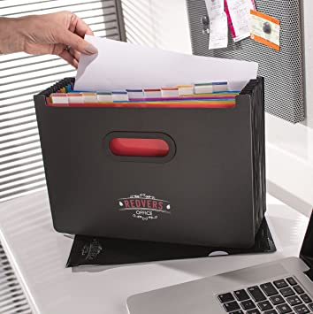 Expanding File Organiser  Redvers Office A4 13 Part Desk Storage