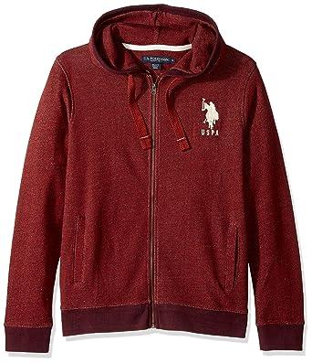 U.S. Polo Assn. Mens Hoody Pullover Sweatshirt, 8631-Copper Stone ...