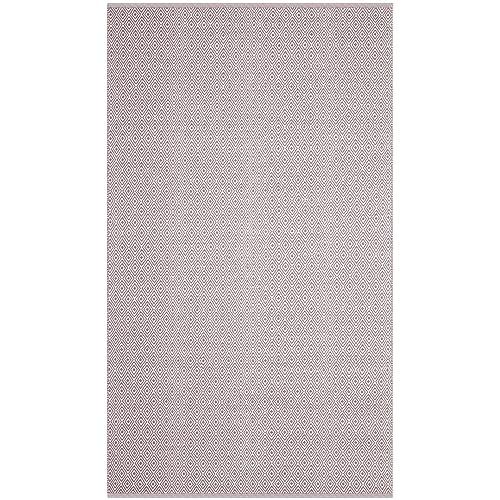 Safavieh Montauk Collection MTK515G Handmade Flatweave Ivory and Purple Cotton Area Rug 4 x 6