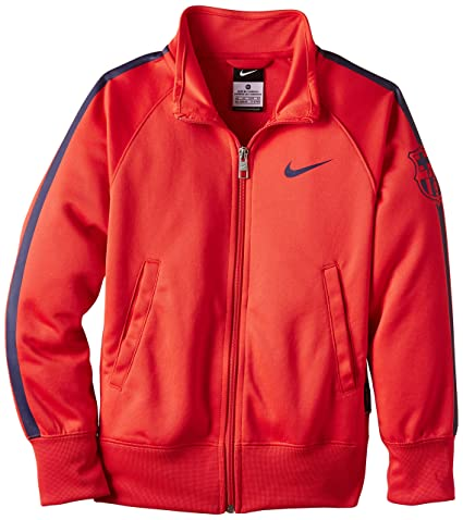 59e4d66e5 Buy Nike Fc Barcelona Kids Track Jacket  LT Crimson Loyal Blue Loyal Blue   (L) Online at Low Prices in India - Amazon.in