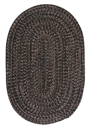 Hayward Oval Area Rug, 2 by 3-Feet, Black
