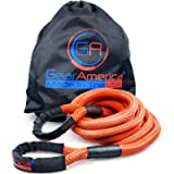 GearAmerica Kinetic Recovery Rope 30 feet | Made in USA | Heavy Duty Snatch Rope (28,500 lbs MBS) | Stretches to Absorb…