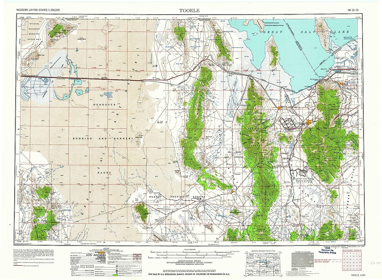 Amazon Com Yellowmaps Tooele Ut Topo Map 1 250000 Scale 1 X 2