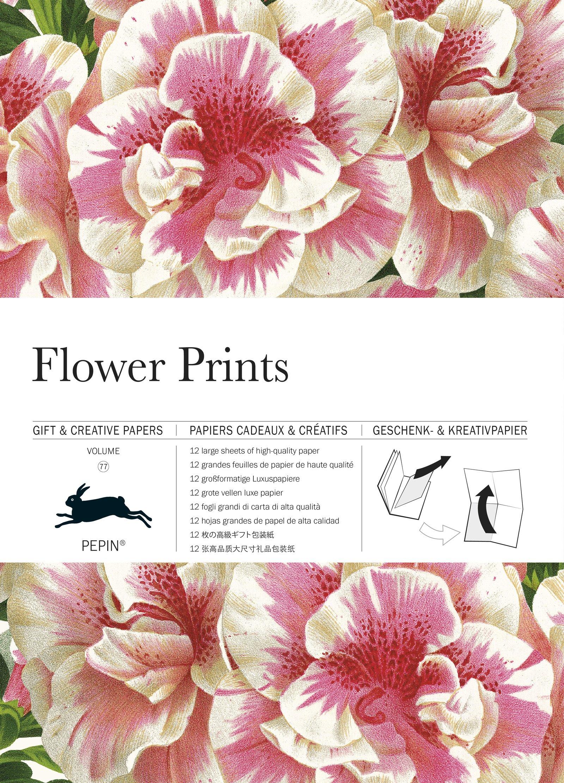 Flower Prints Gift Creative Paper Book Vol 77 English Spanish