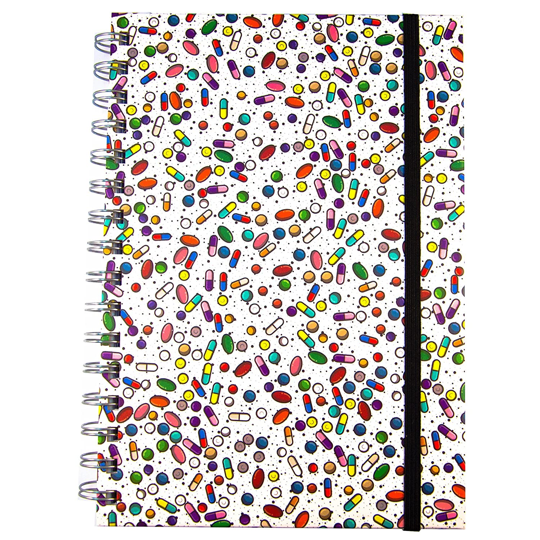 Medinc capsule / farmaci / farmacologia Quaderno A5 con copertina ad anelli con 200 pagine Ideale regalo per l'organizzatore del diario o la laurea infermiera Wellesley Inc