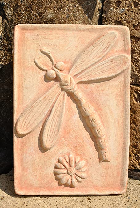 Art Mini Wall Mural featuring Dragonfly, Terracotta, Frost-Proof ...