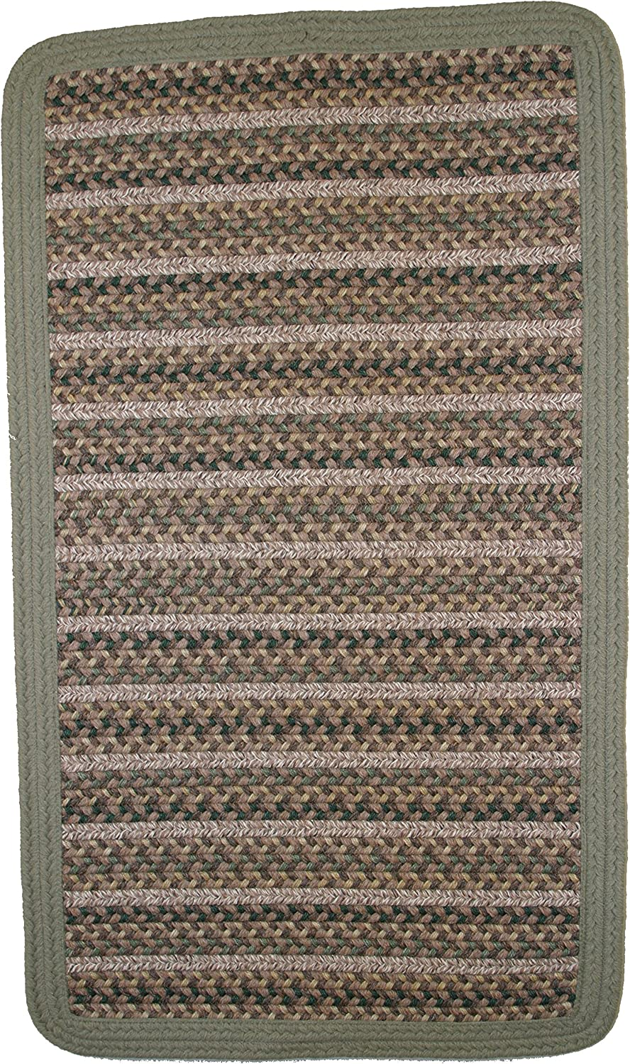 Thorndike Mills Beantown Braided Rug 3' x 5' Rectangle Boston Garden Green