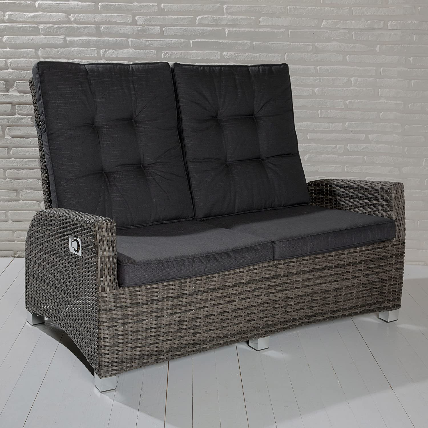 rattan 2 sitzer ro68 hitoiro. Black Bedroom Furniture Sets. Home Design Ideas